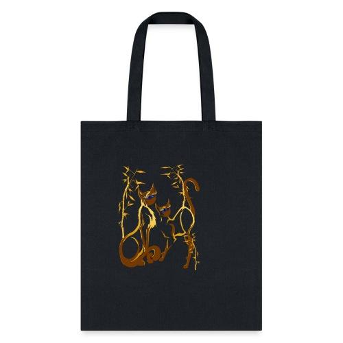 Two gold Siamese Kitties - Tote Bag