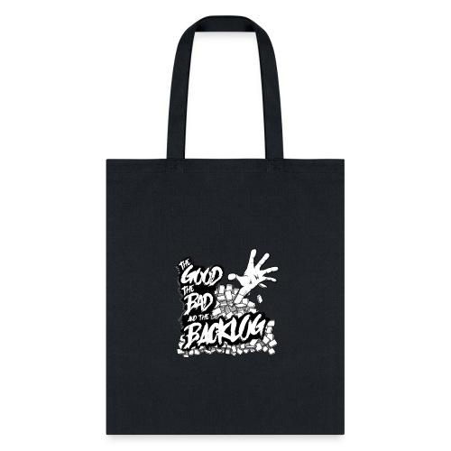 Good, Bad, Backlog - OG Logo white text - Tote Bag