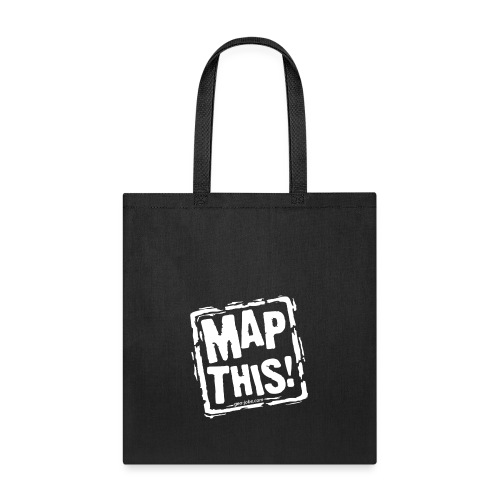 MapThis! White Stamp Logo - Tote Bag