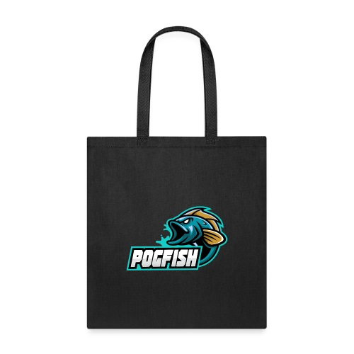 PogFish Text Logo - Tote Bag