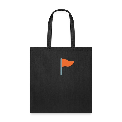 7947 triangular flag on post - Tote Bag