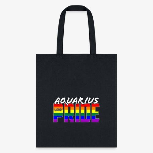 LGBT Aquarius Pride Flag Zodiac Sign - Tote Bag