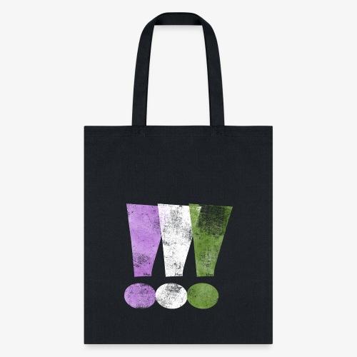 Genderqueer Pride Exclamation Points - Tote Bag