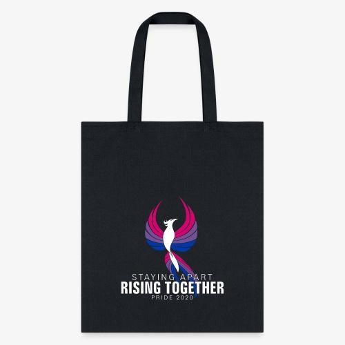 Bisexual Staying Apart Rising Together Pride 2020 - Tote Bag