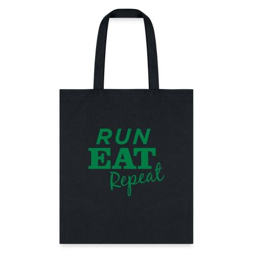Run Eat Repeat buttons medium - Tote Bag