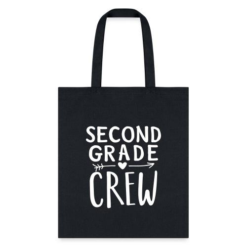 Second Grade Crew Heart Teacher T-Shirts - Tote Bag