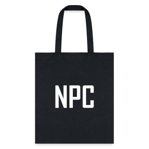 N P C logo in white - Tote Bag