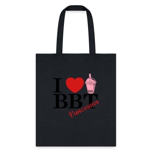 I Love Bubble Tea Vancouver - Tote Bag