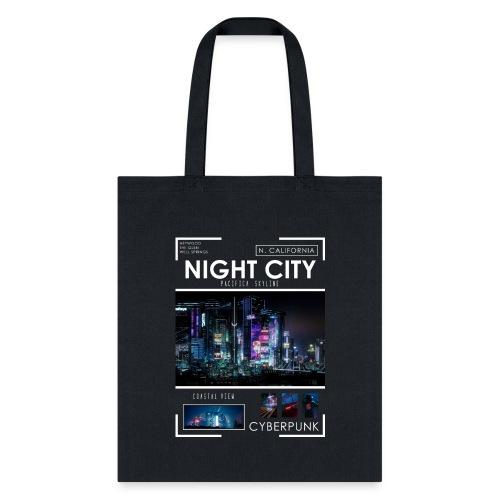 Night City Pacifica Skyline - Tote Bag