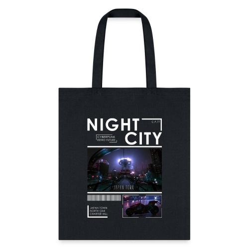 Night City Japan Town - Tote Bag
