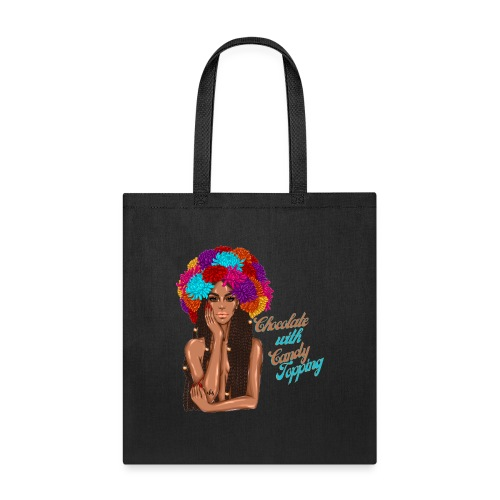 Chocolate Girl With CandyTopping - Tote Bag