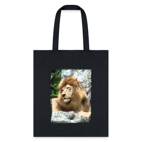 Lion On Rocks - Tote Bag