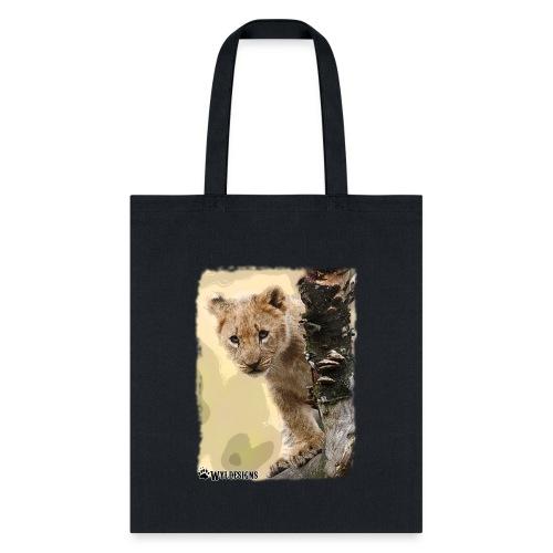 Lion Cub Peeking - Tote Bag