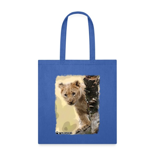 Lion Cub Peeking - Tote Bag