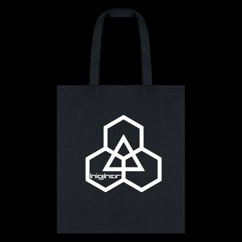 Higher text logo (white) - Tote Bag