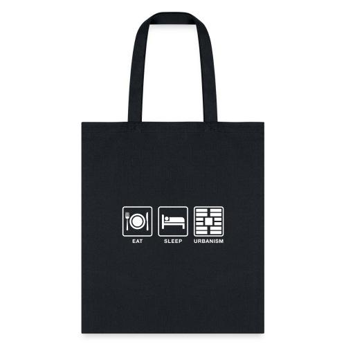 Eat Sleep Urb big fork - Tote Bag