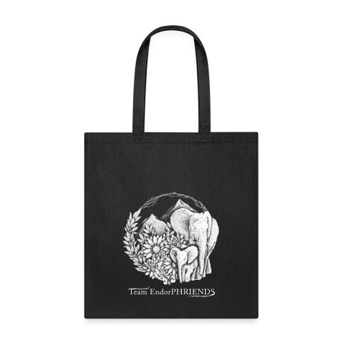white with black bg3 - Tote Bag
