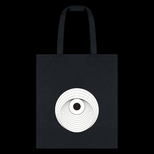 Black Dirt Vortex Logo Light - Tote Bag