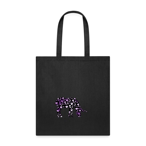 Unicorn Hearts purple - Tote Bag