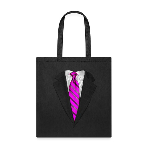 Pink Suit Up! Realistic Suit & Tie Casual Graphic - Tote Bag