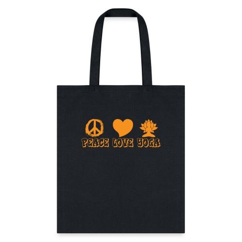 Peace Love Yoga - Tote Bag