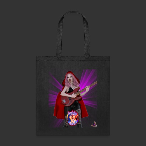 Happily Ever Undead: Blood Red Hood Bassist - Tote Bag