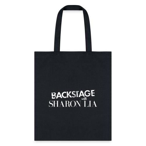 Backstage With Sharon Lia - White - Tote Bag