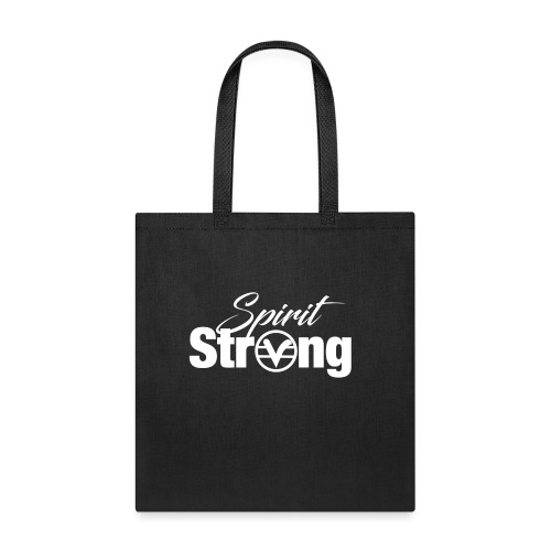 Spirit Strong Tee White (Women V Neck) - Tote Bag