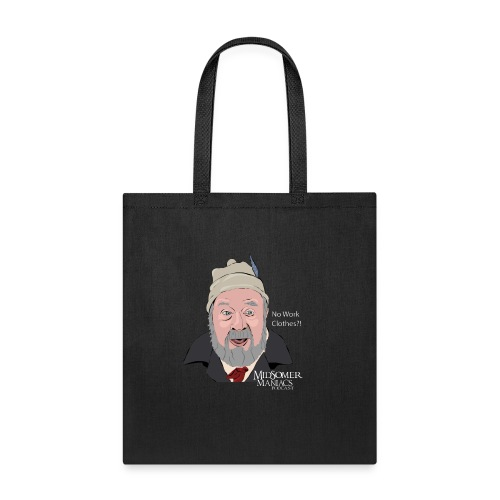 Midsomer Maniacs Podcast - Benbow light text - Tote Bag