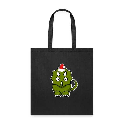 Happy Holidays Triceratops - Tote Bag