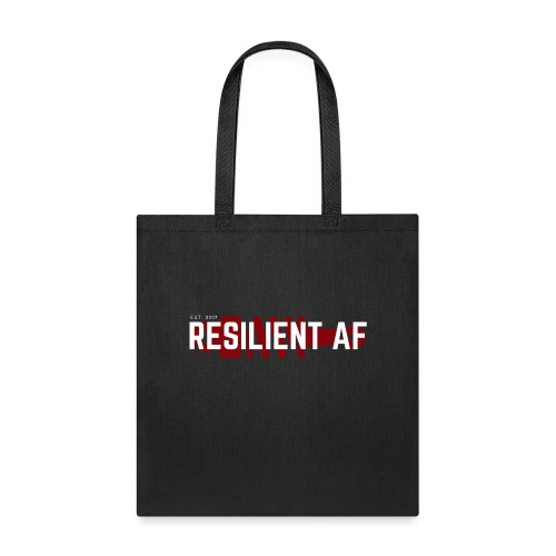 RESILIENT WHITE with red - Tote Bag