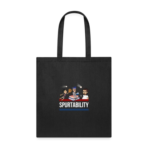 Spurtability White Text - Tote Bag
