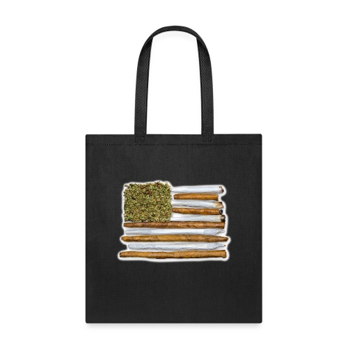 American Flag With Joint - Tote Bag