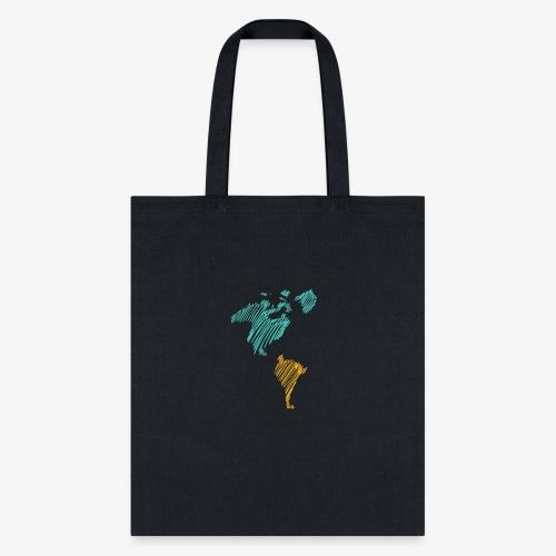 Pencil Crayon Map - Tote Bag