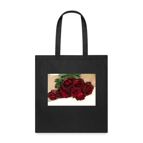 red rose bouquet on table - Tote Bag