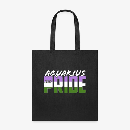 Aquarius Genderqueer Pride Flag Zodiac Sign - Tote Bag