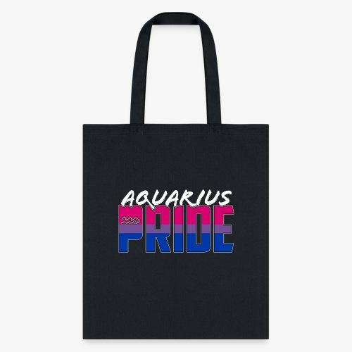 Aquarius Bisexual Pride Flag Zodiac Sign - Tote Bag