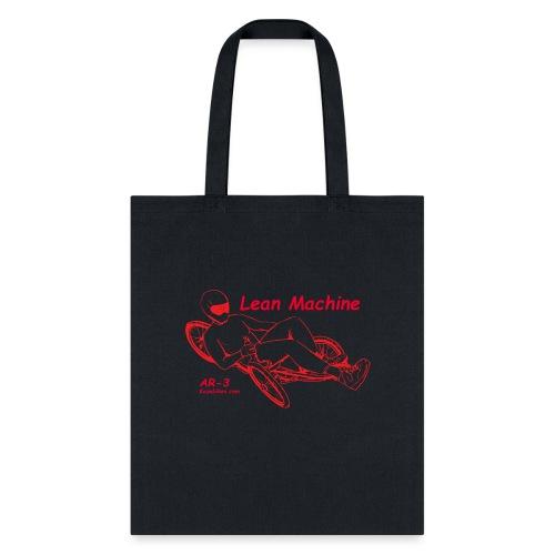 Lean Machine AR-3 all Red Logo Shirt - Tote Bag