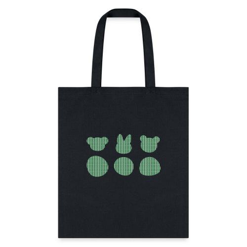Three Smizdas in green and white - Tote Bag