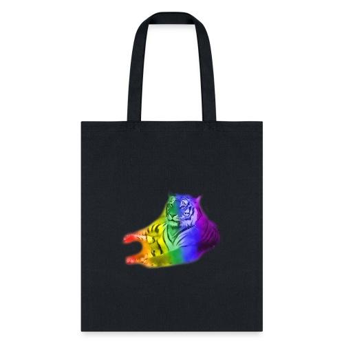 watercolor rainbow tiger - Tote Bag