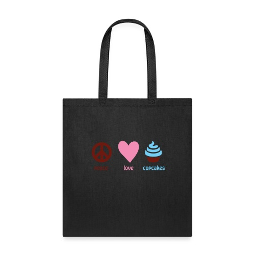 peacelovecupcakes pixel - Tote Bag