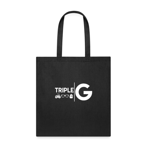 Triple G Full Logo - White Logo - Tote Bag