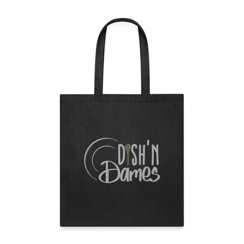 Dish'n Dames White & Gold Logo - Tote Bag
