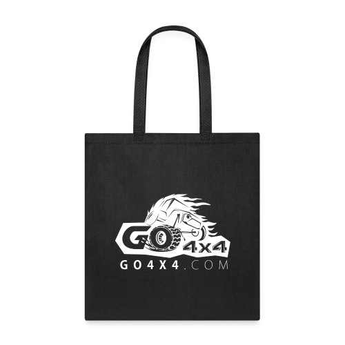 go bw white text - Tote Bag