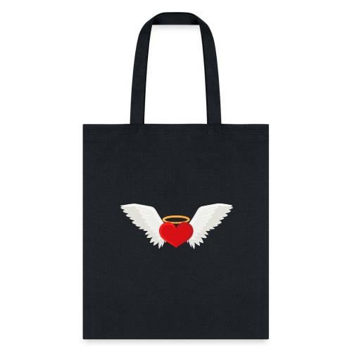 Winged heart - Angel wings - Guardian Angel - Tote Bag