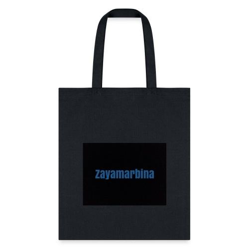Zayamarbina bule and black t-shirt - Tote Bag