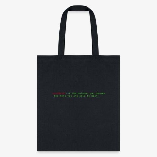 Kali Terminal Slogan - Tote Bag