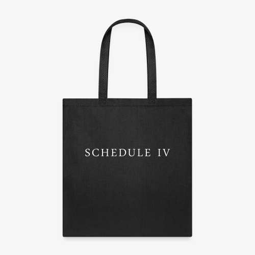 Schedule IV Logo - Tote Bag