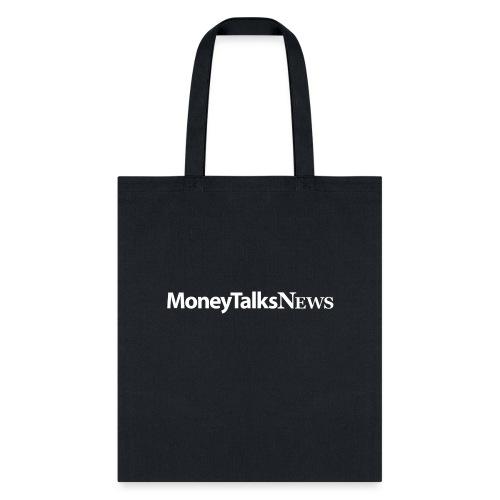 Money Talks News Logo - White - Tote Bag