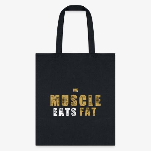 Muscle Eats Fat Tank Top (Saints Gold) - Tote Bag